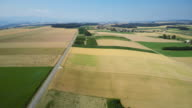 Aerial shot over a road in the country side video