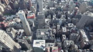 NYC Aerial Shot Panning up From Bryant Park video