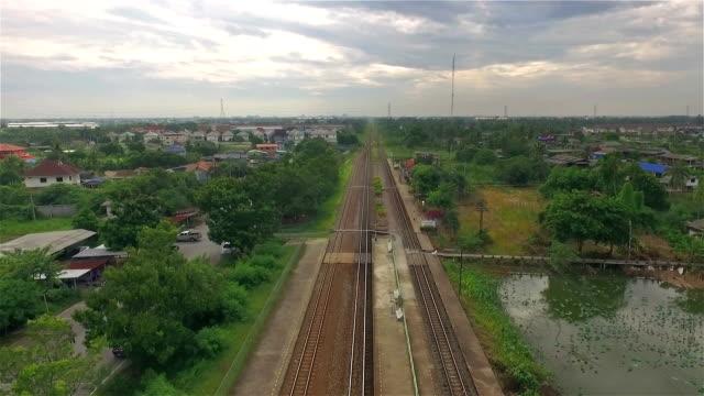 Aerial Shot Railroad video