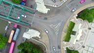 Aerial Shot Steet Circle video