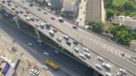 Aerial shot:Bridge And River video
