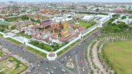 Aerial shot:Grand Palace Wat Phra Kaew video