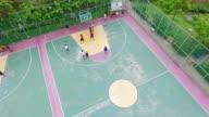 Aerial Shot:Play Basketball video
