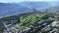 Aerial shots of Crans-Montana - Switzerland video