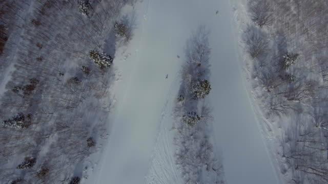 Aerial: Ski sport area video