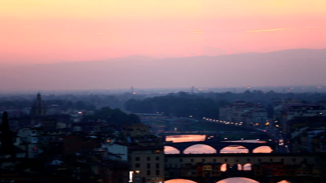 Aerial Skyline of Florence at Sunset video
