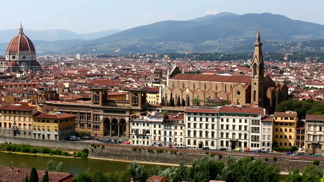 Aerial Skyline of Florence video