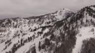 Aerial Snowbird ski resort , Utah video