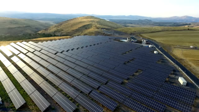 Aerial Solar Power Station video