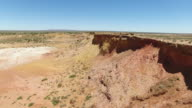 Aerial - South Australia Lyndhurst Ochre Pits video