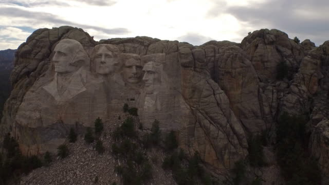 Aerial South Dakota Mt Rushmore video