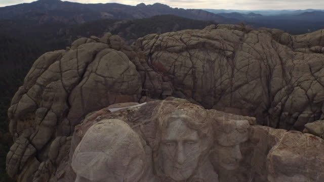Aerial South Dakota Mt Rushmore video