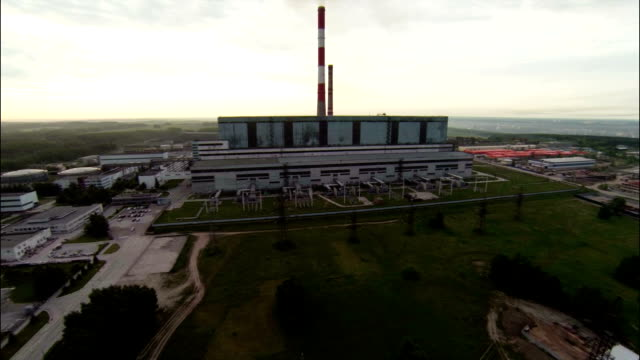 Aerial Stock Footage Flight Above Power Plant video