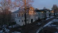 Aerial Street of old houses video