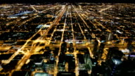Aerial Streets of Chicago, USA video