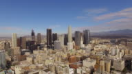 Aerial Sunny weather Downtown Los Angeles video