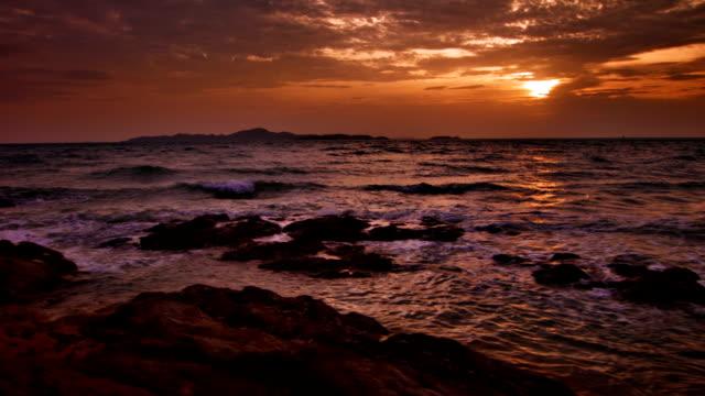Aerial sunset video