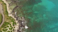 Aerial The ocean off the coast of Hawaii video