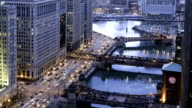 Aerial Time Lapse of Chicago Rush Hour video