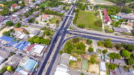 Aerial Time lapse of traffic in a junction in rural area video