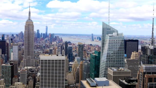 Aerial timelapse aerial of Manhattan, New York video
