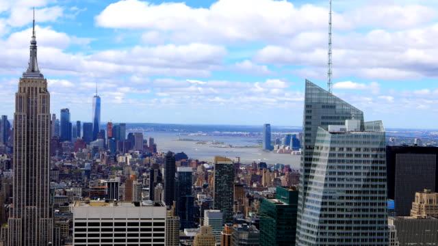 Aerial timelapse aerial of midtown Manhattan, New York video