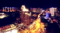 Aerial timelapse from drone of Arcadia district in Odessa Ukraine video