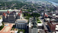 Aerial timelapse of Albany, New York video