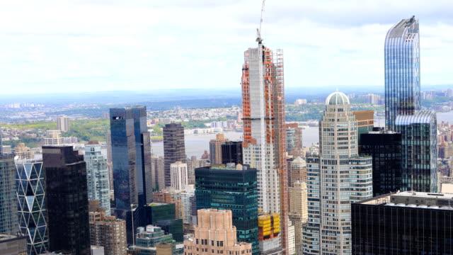 Aerial timelapse of midtown Manhattan area video