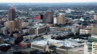Aerial timelapse of San Antonio city center video