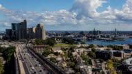 Aerial timelapse of Sydney CBD, Observatory Hill, and Anzac Bridge video