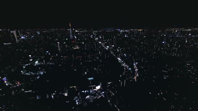 4K aerial timelapse of Tokyo by Night video