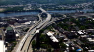 Aerial timelapse of traffic in Albany video