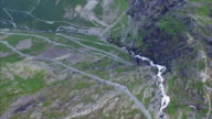 Aerial timelapse of Trollstigen pass road in Norway video