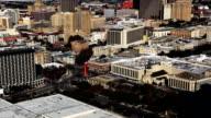Aerial timelapse view of San Antonio city center video