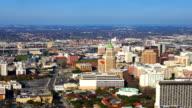Aerial timelapse view of San Antonio expressways video