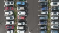 4K Aerial: Tloris Dolly above Filled Parking Area video