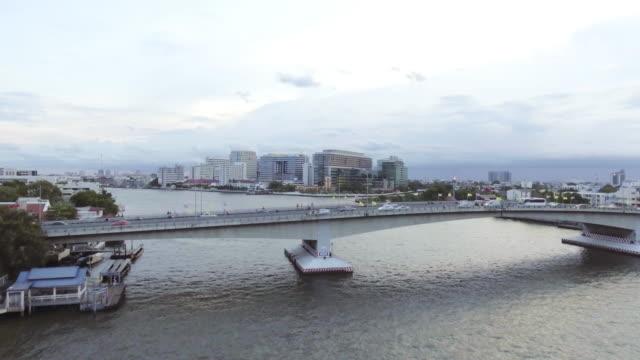 Aerial Traffic at the Pha Pinkao Bridge video