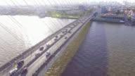 Aerial Traffic at the Rama VIII Bridge video