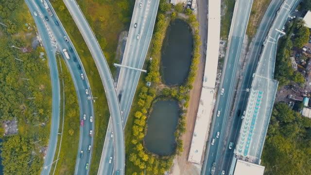 Aerial traffic highway video
