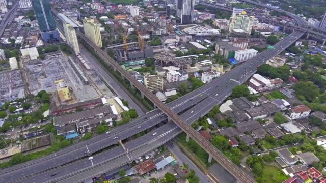Aerial traffic Urban scene at daylight. video