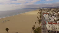 Aerial Venice Beach in Los Angeles video