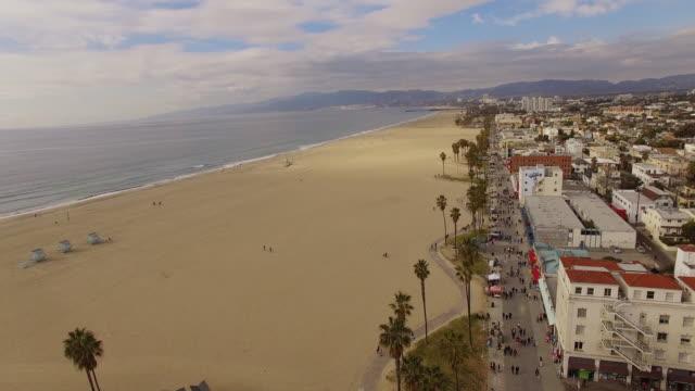 Aerial Venice Beach in Los Angeles video