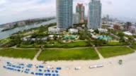 Aerial video beachfront condos in Miami Beach video