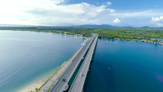 Aerial video Bridge Thailand video