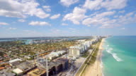 Aerial video construction site Miami Beach video