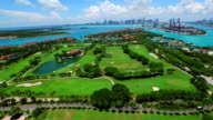 Aerial video Fisher Island 4k video