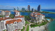 Aerial video Fisher Island video