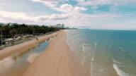 Aerial video Hua Hin Beach, Thailand video