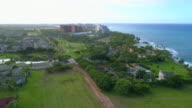 Aerial video Kahe Point and Paradise Cove Oahu Hawaii video
